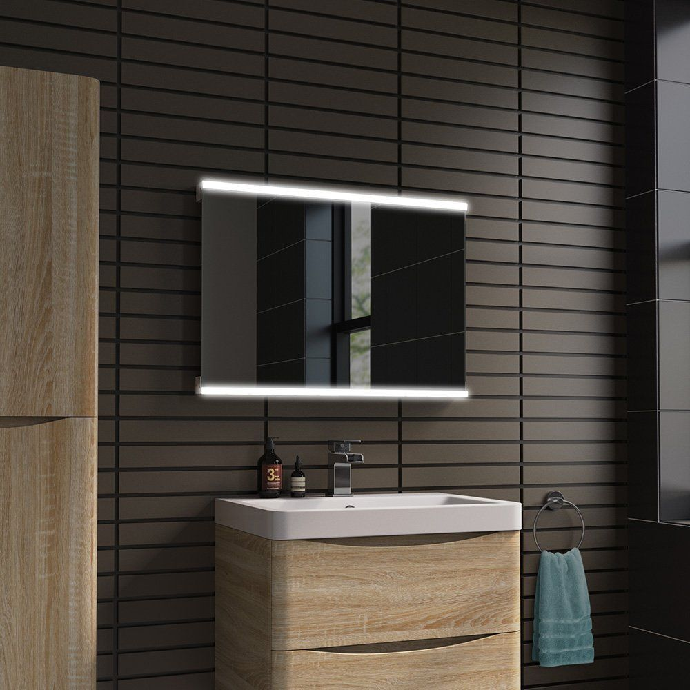 Bathroom Mirrors Amazon 500 x 700 mm modern illuminated led bathroom mirror with bluetooth