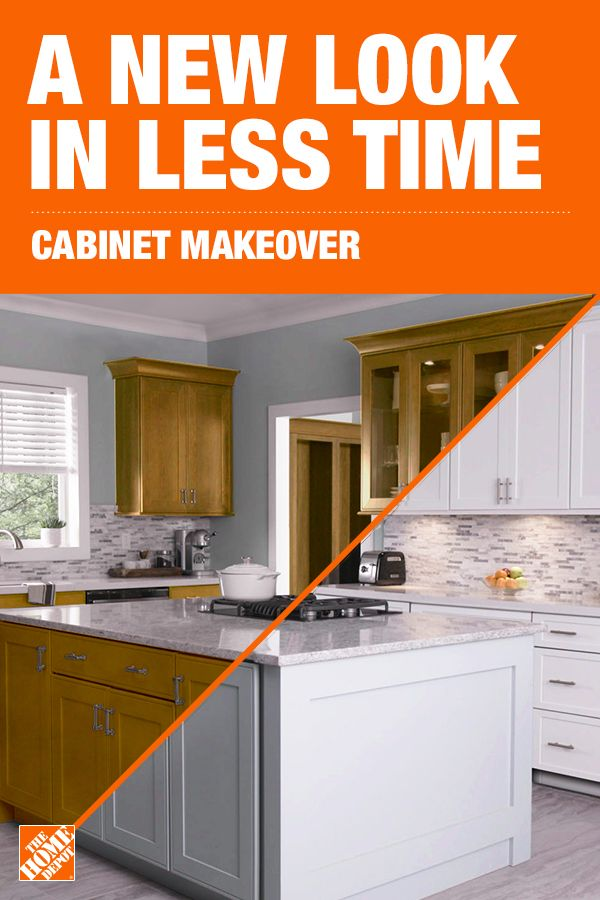 Update Your Kitchen With A Cabinet Makeover From The Home Depot Home Services Kitchen Cabinets Home Depot Home Depot Kitchen Kitchen Remodel Small