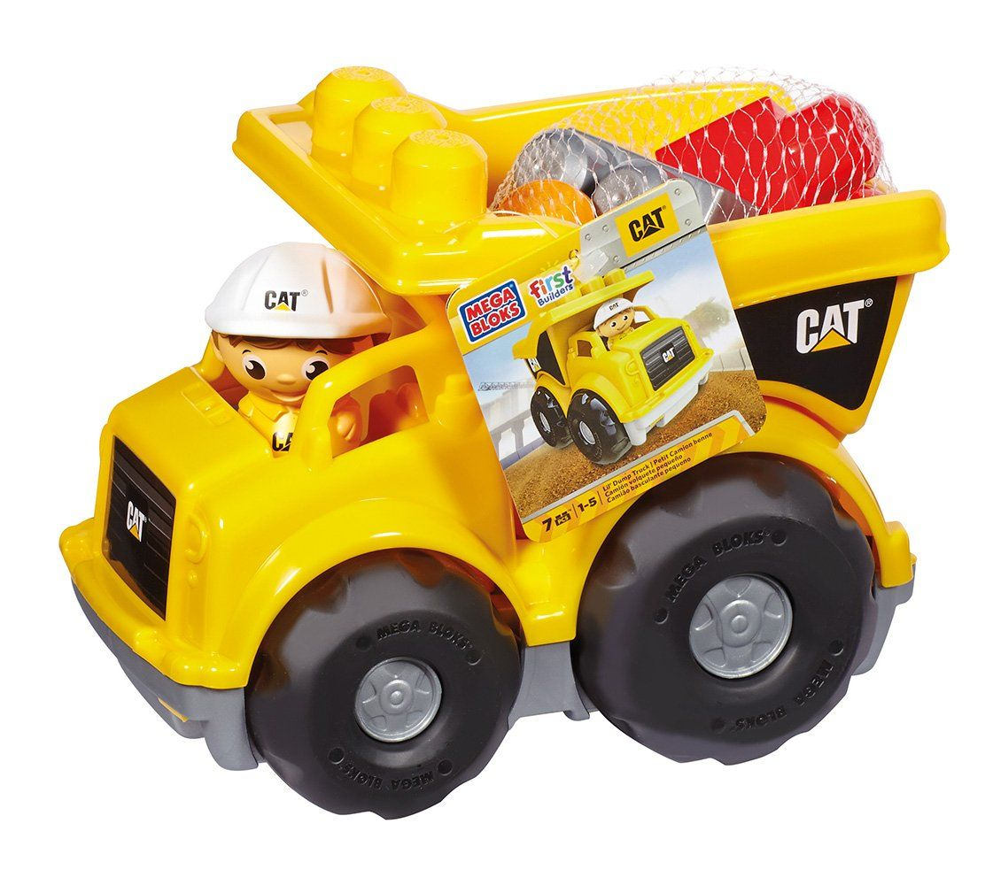 Mattel Mega Bloks First Builders Cnd88 Cat Kipplaster Spielzeug Laster Babyspielsachen