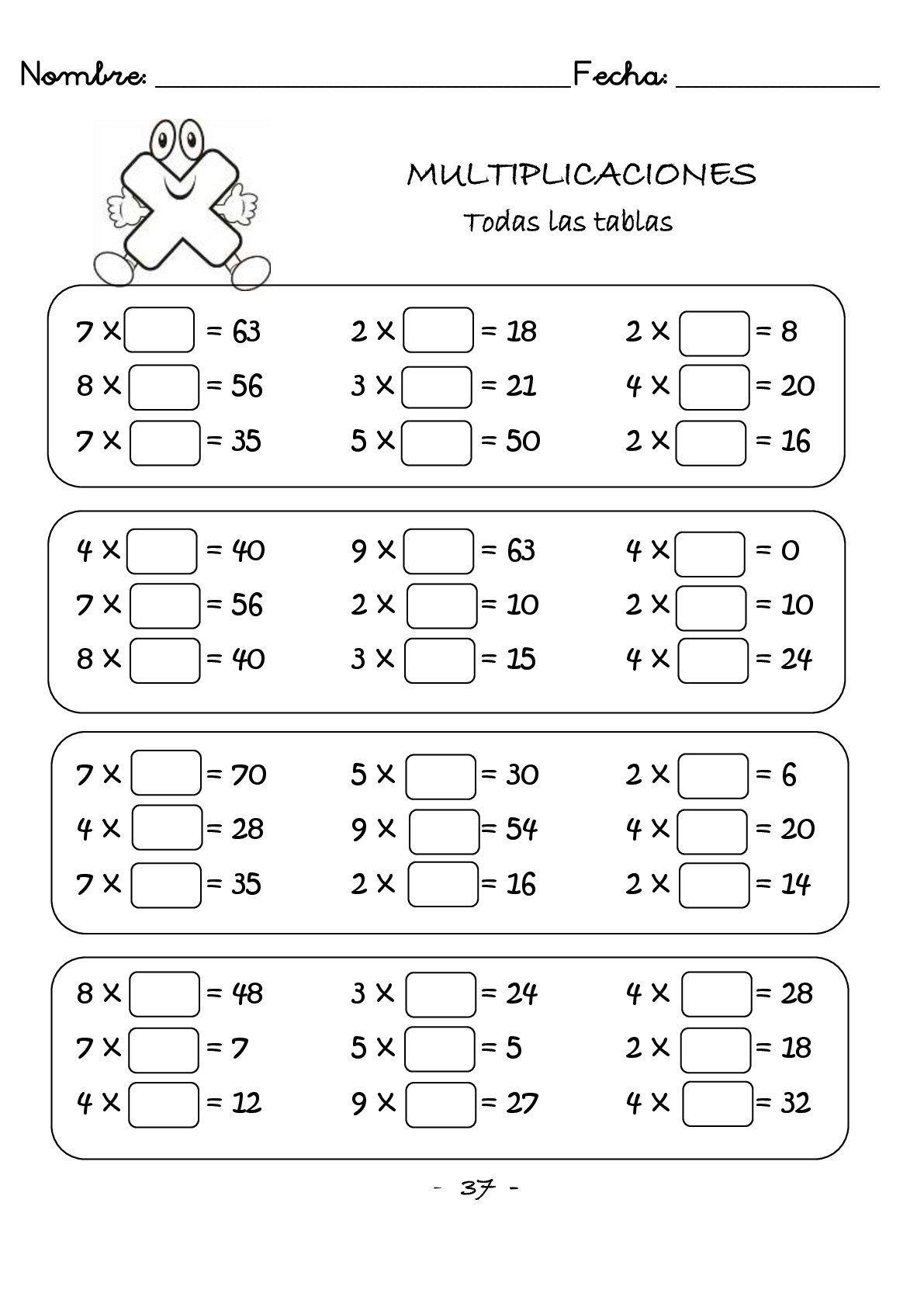 Cuaderno De Multiplicaciones Rápidas Para Primaria Orientacion Andujar Matematicas Tercero De Primaria Ejercicios De Calculo Ejercicios Matematicas Primaria
