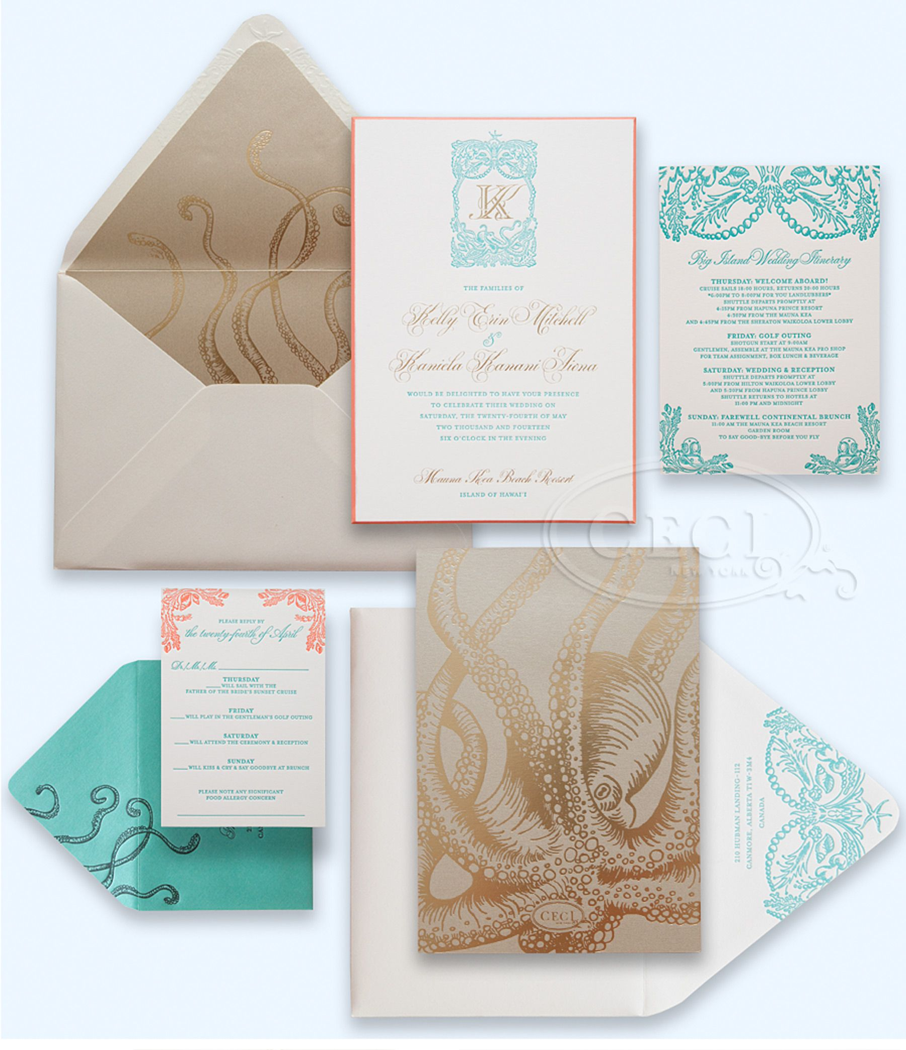 Luxury Wedding Invitations by Ceci New York - Our Muse - Tropical ...