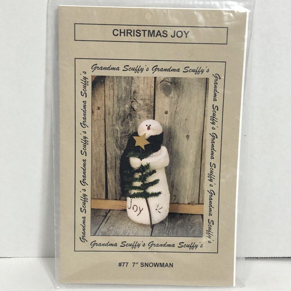 Uncut Complete Ebay Snowman Crafts Fabric Crafts