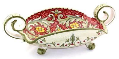 decorative bowls home decor.htm rococo oblong centerpiece bowl w handles  1499 roc  deruta  rococo oblong centerpiece bowl w