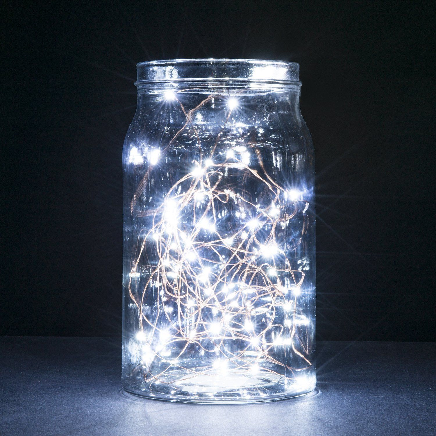 Copper Wire LED String Lights,2 Set of Micro 30 LEDs Starry Lights ...