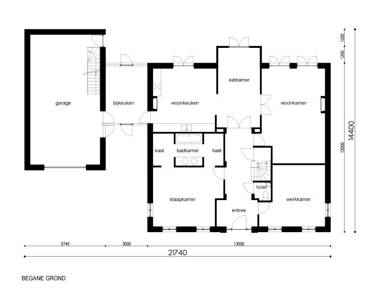 Afbeeldingsresultaat voor plattegrond notariswoning for Plattegrond woning