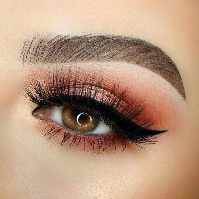 Burgundy eye shadow