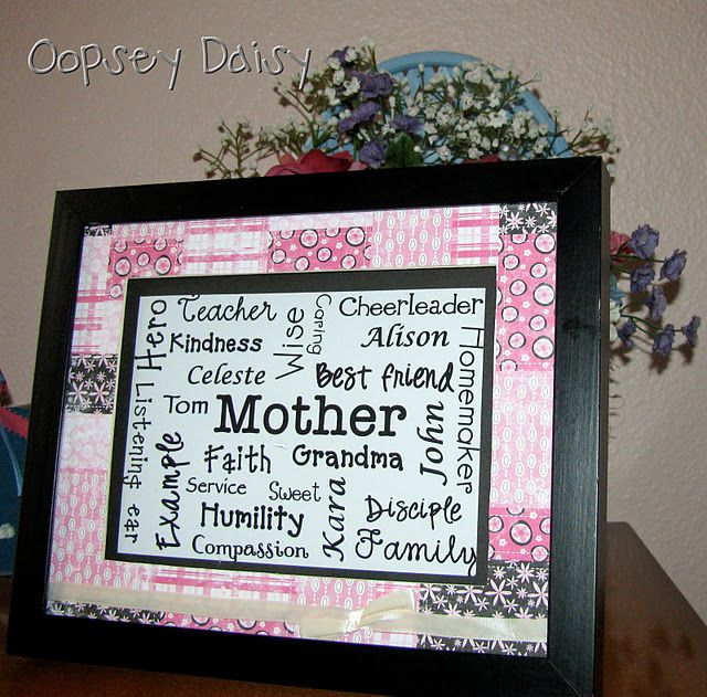 Mother's Day Word Collage