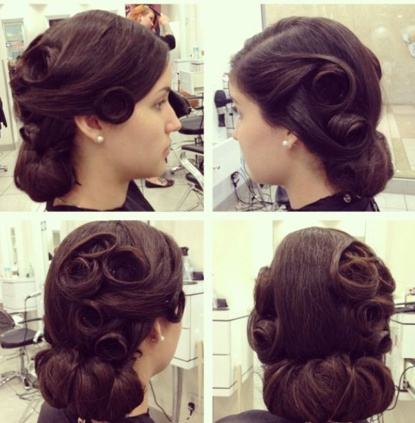Pincurl Updo Extravaganza Ball Hairstyles Vintage Hairstyles Polished Hair