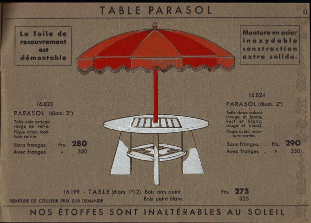 French Parasols - French Garden Trade Catalogue - Hinck and Wall