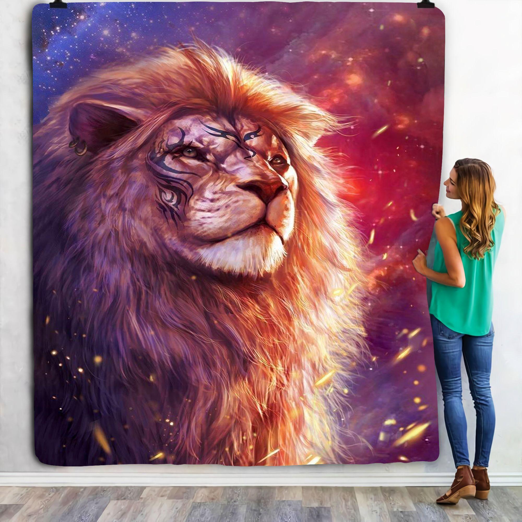 Red Lion Fleece Blanket