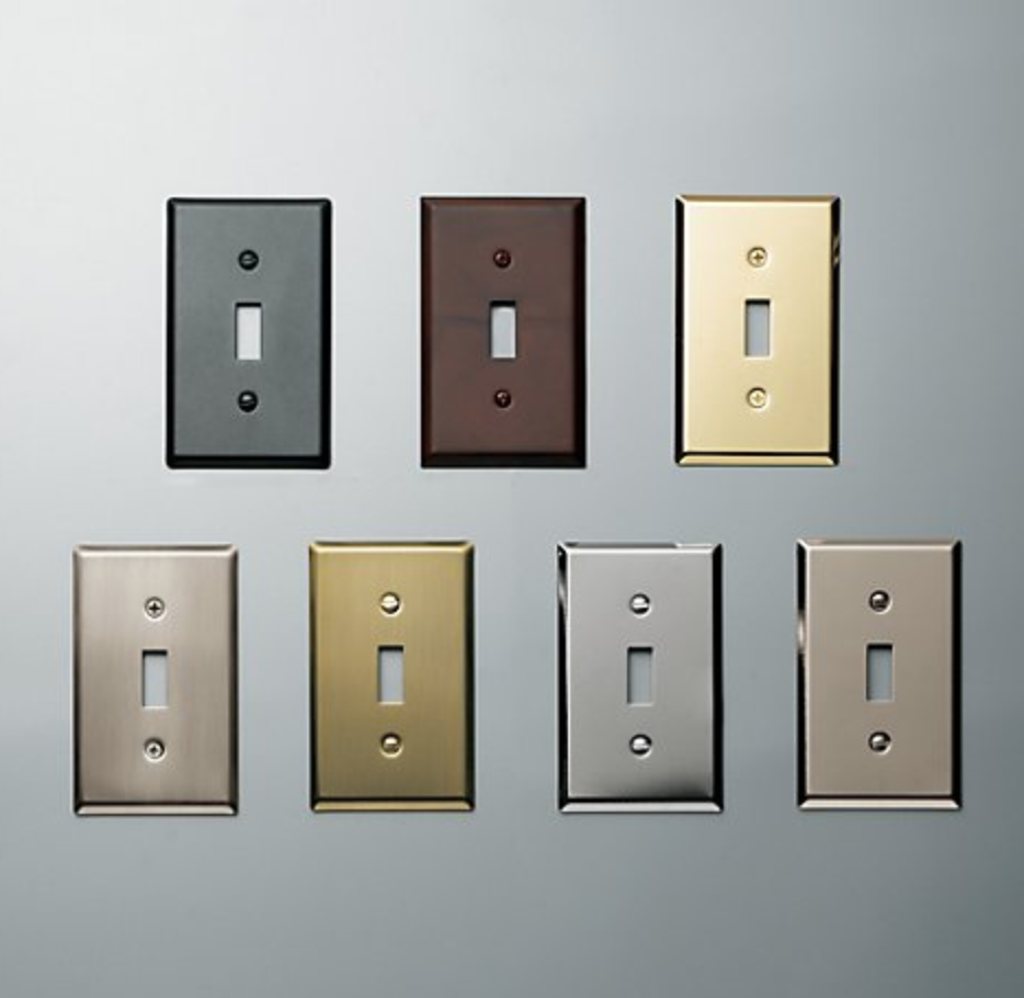 Metal Single Switch Plate Hardware In 2019 Plates