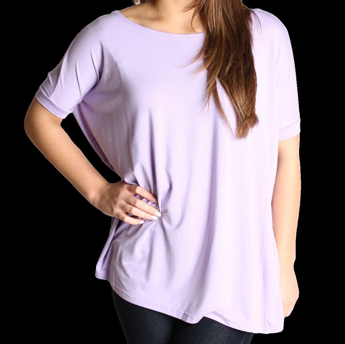 Lilac Piko Short Sleeve Top