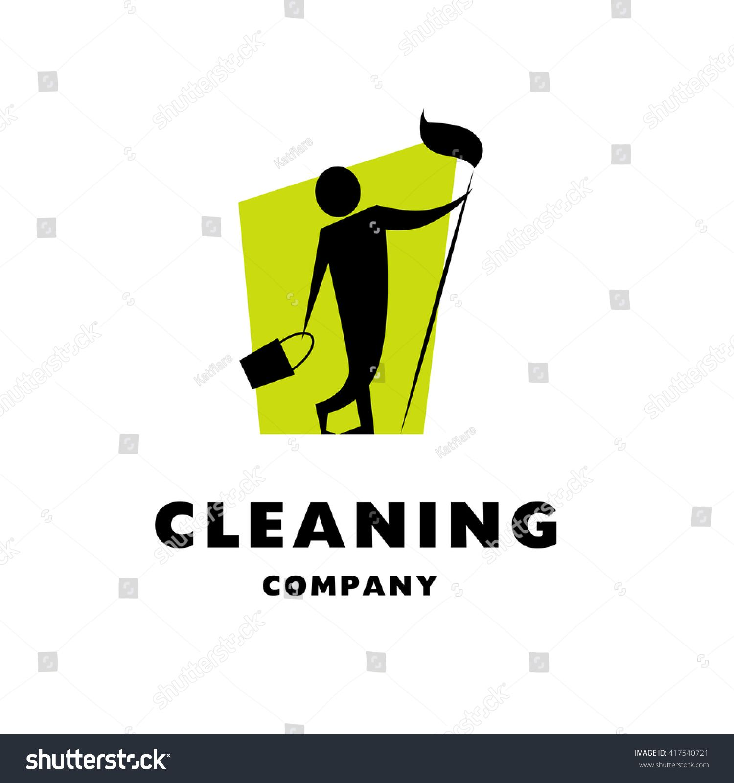 vector logo for cleaning company  flat cleaning service insignia  simple cleaning logo icon with