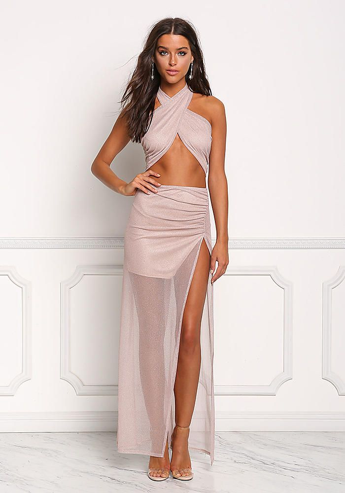 6010c8e3c Blush Shimmer High Slit Maxi Skirt - Halloween - Trends | What to ...