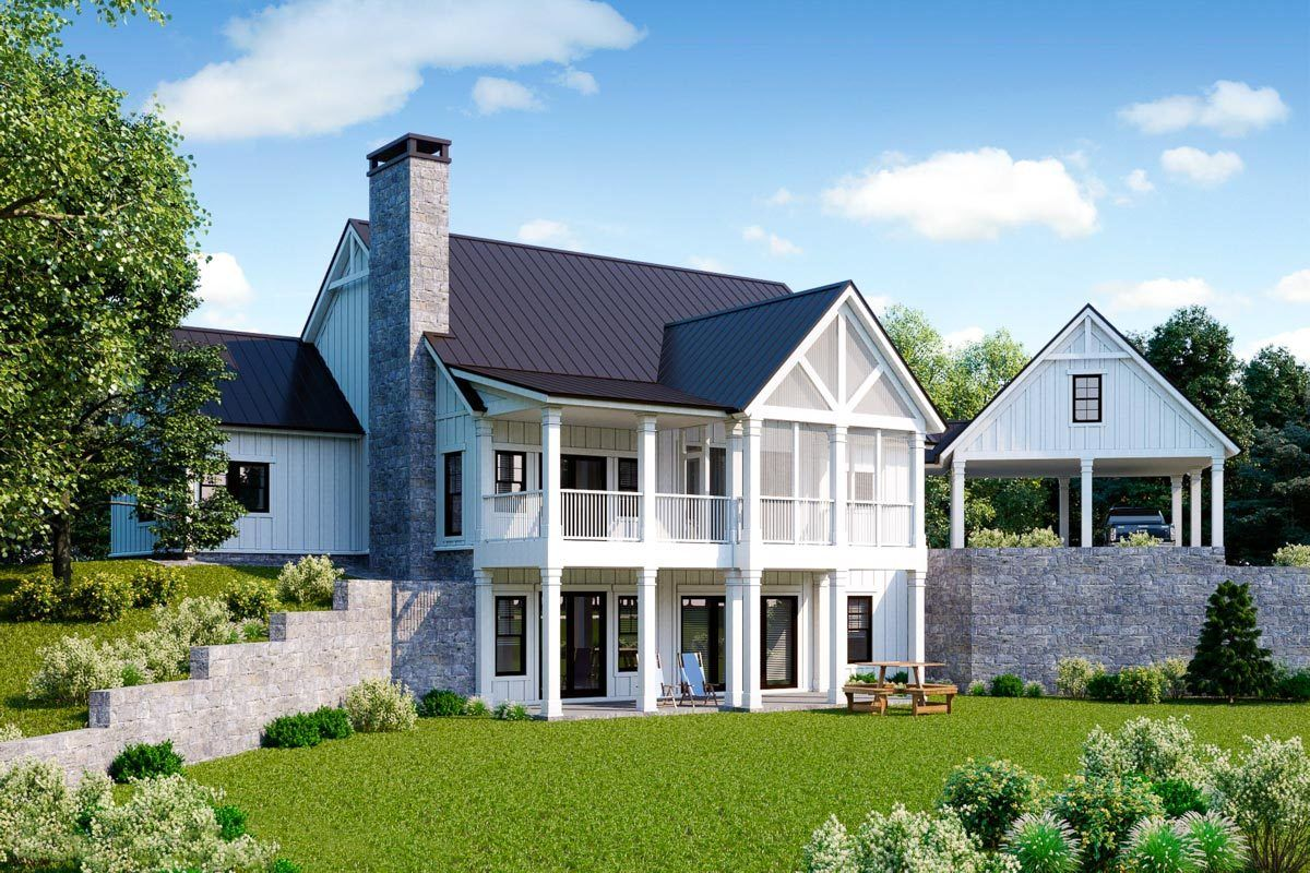 Plan 92384MX: Exclusive Modern Farmhouse Plan with Loft ...
