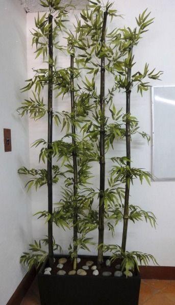 decoracion de interiores con plantas cañas de bambu - Buscar con - decoracion con bambu