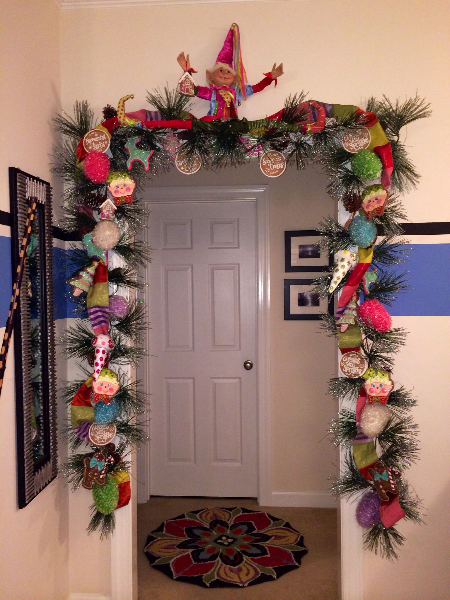Christmas Door Swag By Sharpe Designs