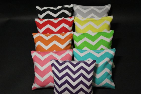 Awesome All Weather Chevron Cornhole Bags 8 Resin Filled Wedding Cjindustries Chair Design For Home Cjindustriesco