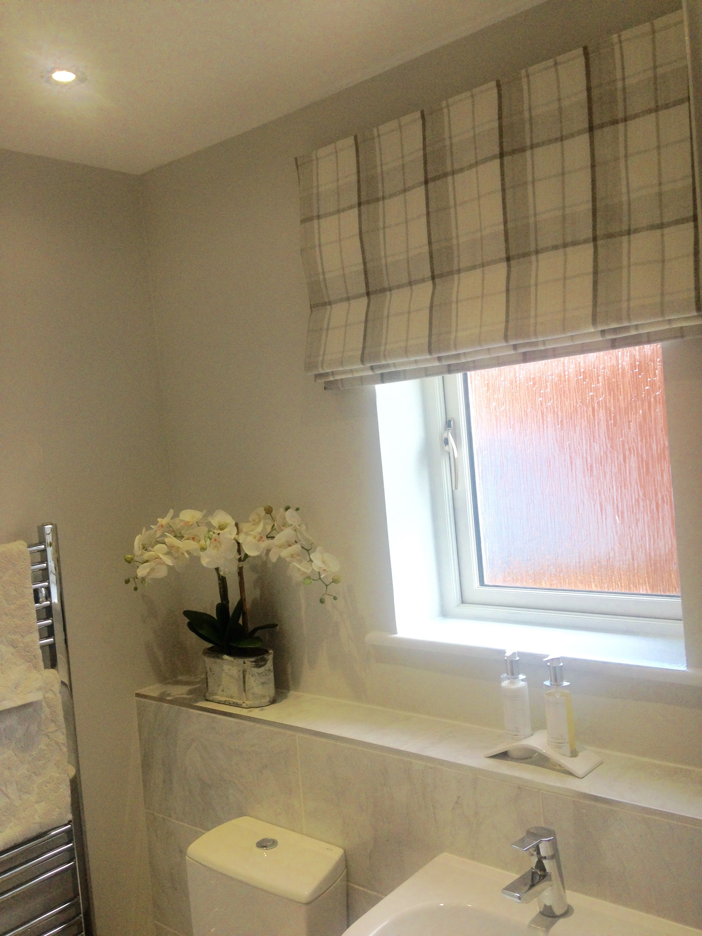 Roman Blind Made Using A Laura Ashley Fabric Roman Blinds - Waterproof blinds for the bathroom for bathroom decor ideas