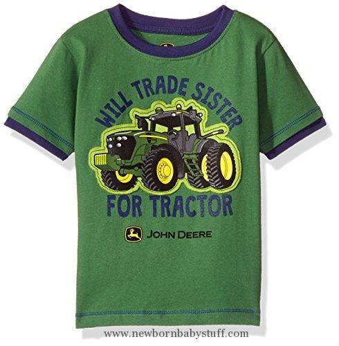 ceb7e39a9 Baby Boy Clothes John Deere Baby Toddler Boys' Graphic Tee, Green/Navy, 2T