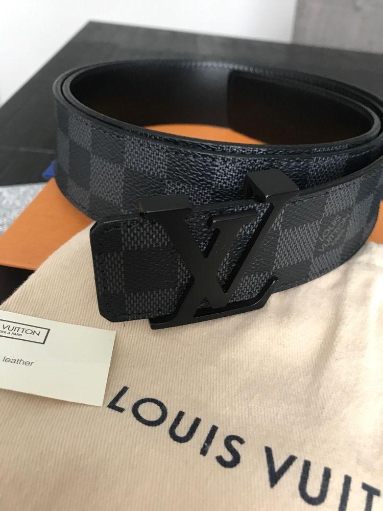 f00b2d209781 Louis Vuitton Mens Damier Graphite LV Initiales Black 105 42 M9808  fashion   clothing  shoes  accessories  mensaccessories  belts (ebay link)