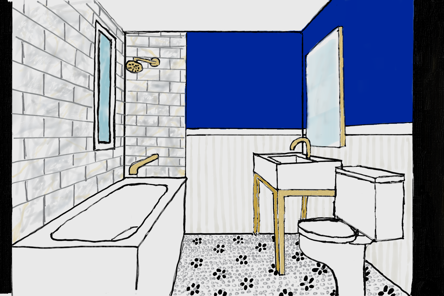 Owner\'s Main Bath (my drawing, layout is not right)   Heights House ...