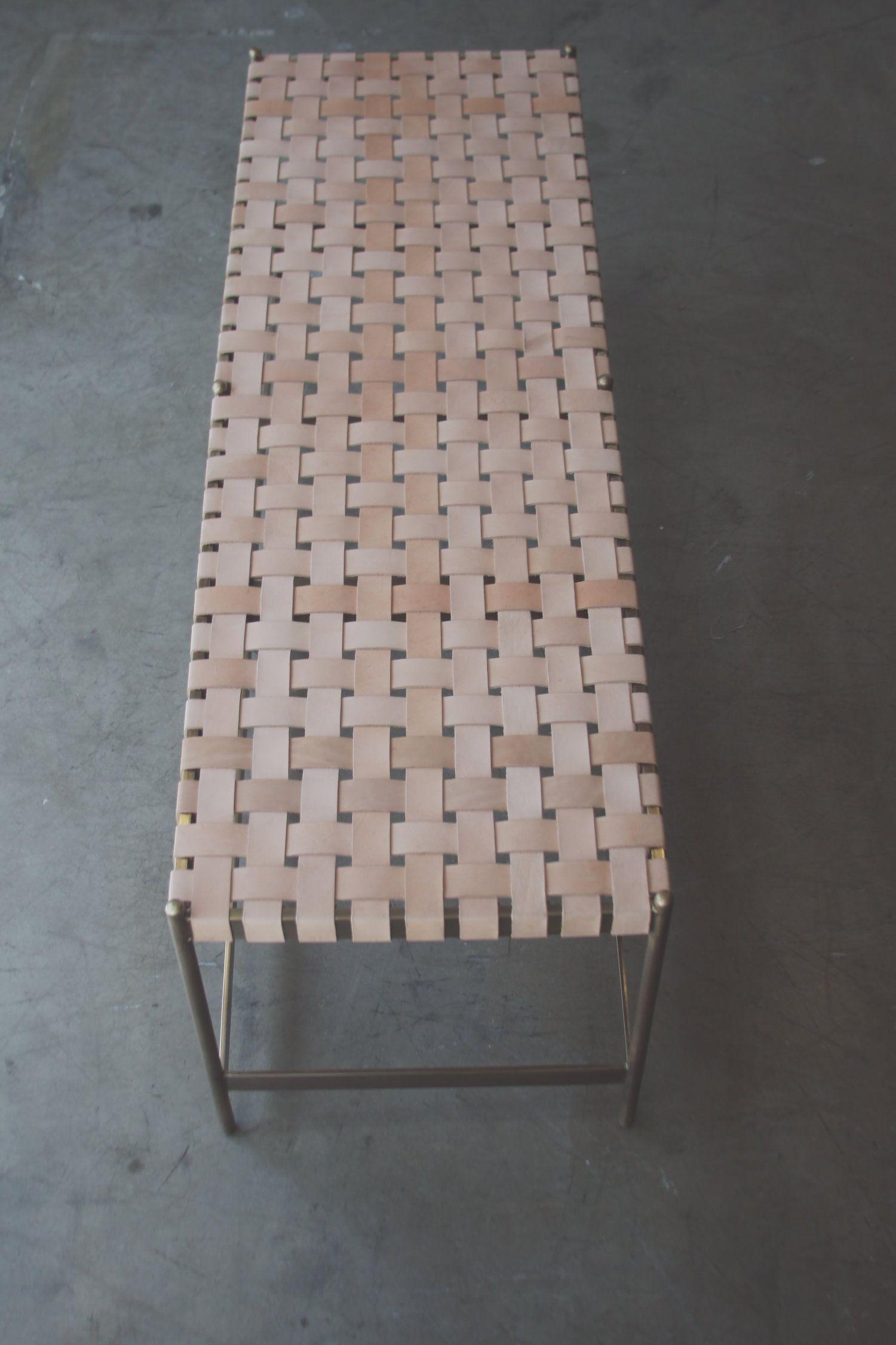 woven metal furniture. WOVEN METAL BENCH \u2014 THOMAS HAYES STUDIO Woven Metal Furniture A
