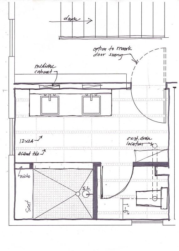 Small master bathroom floor plans with no tub designs in - Small bathroom floor plans with shower ...