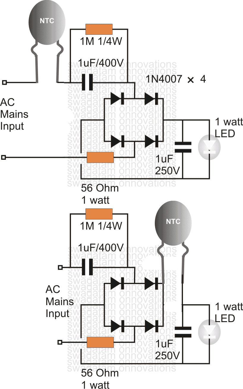 Using An Ntc Thermistor As A Surge Suppressor Homemade Circuit Projects In 2020 Electronic Circuit Projects Circuit Projects Electronics Circuit