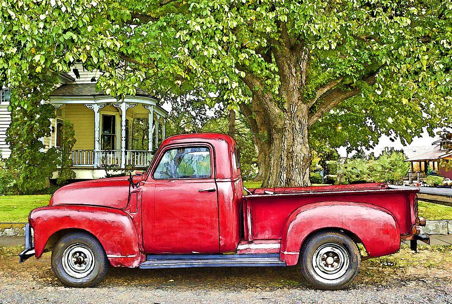 Advance Design Era Gmc Chevy Pickup Truck The Old Red Truck