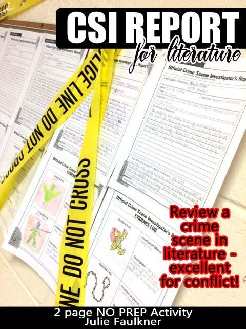 Scene Investigator Police Report, Creative, Text-Based Fun, Any Text - forensic report