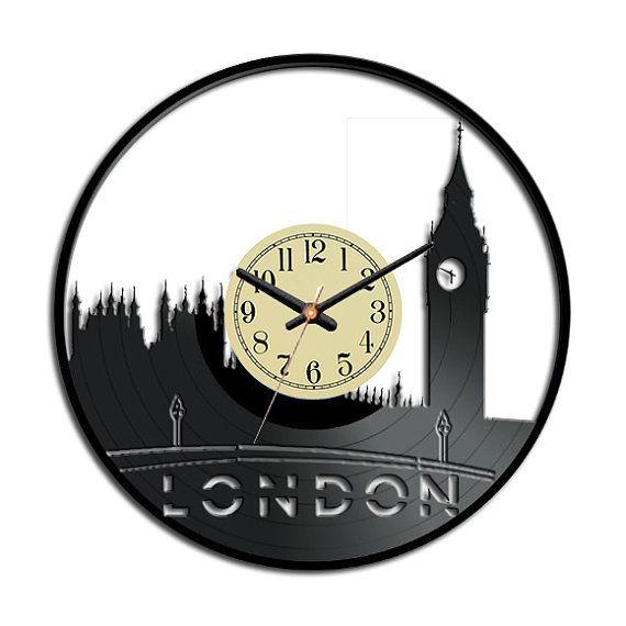 vinyl clock london big ben clock tower vinyl by vinylimage memo pinterest uhren bilder. Black Bedroom Furniture Sets. Home Design Ideas