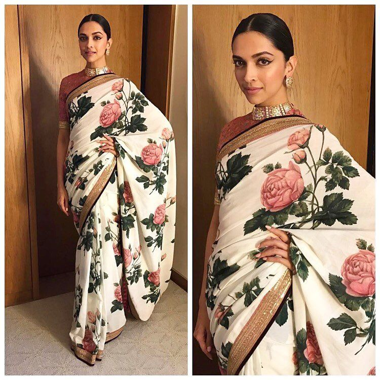 Deepika Padukone & The Rest of India Love Hand Painted Sarees!
