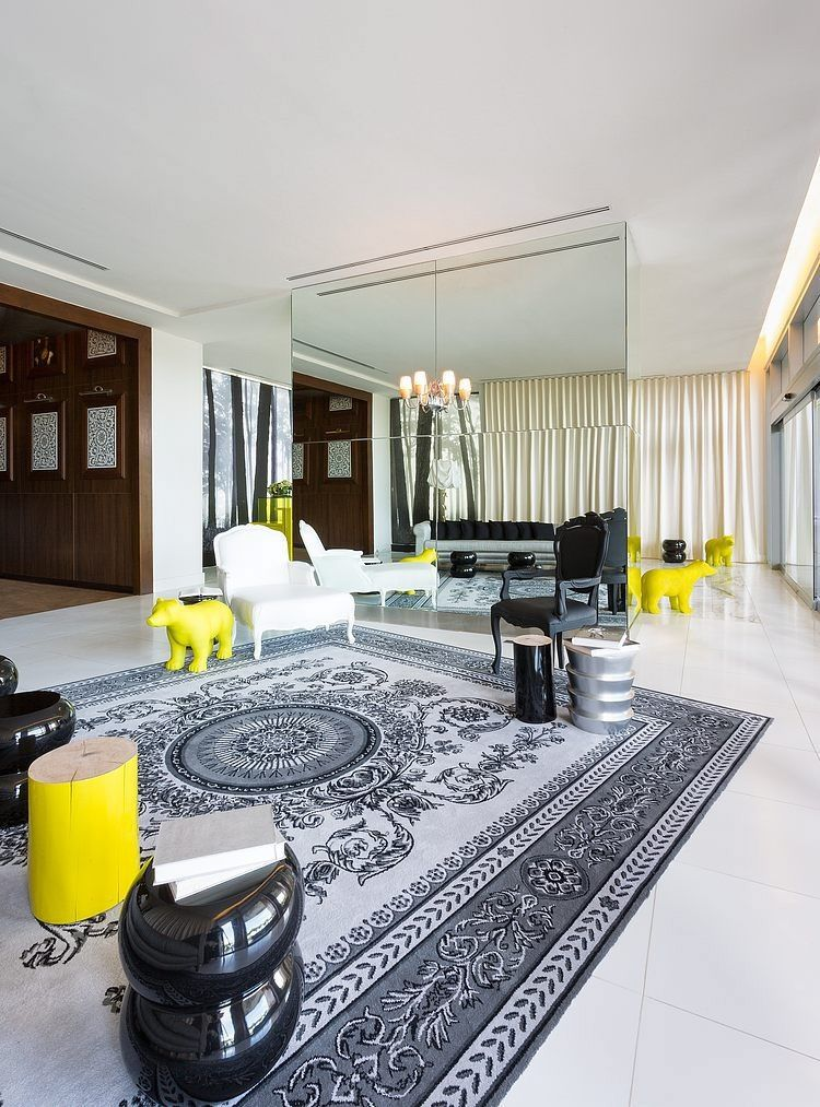 Yoo panama by philippe starck living room designs for Hotel decor for home