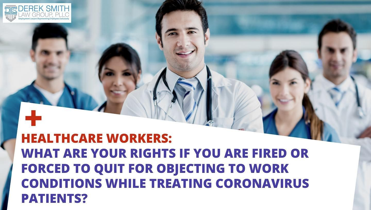 Doctors Nurses & Healthcare Workers If you are fired