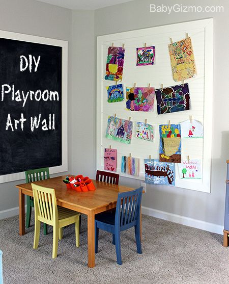 Playroom Wall Decor diy playroom art wall - baby gizmo blog | do it yourself today