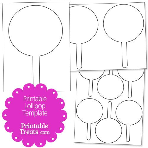 Printable Lollipop Template from PrintableTreats.com