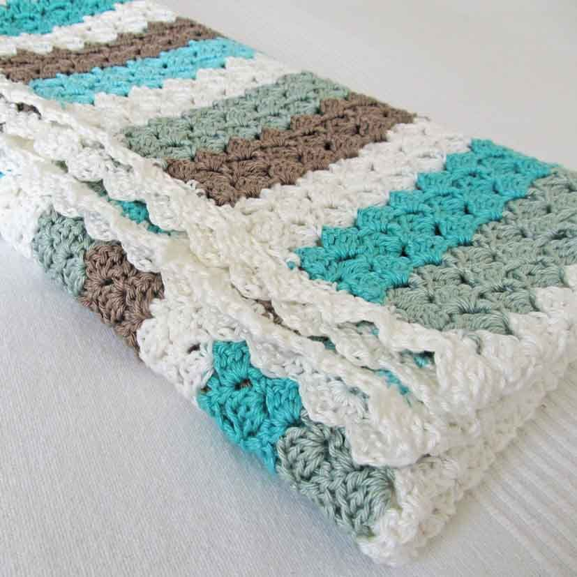 Crochet baby blanket... Great Color combination Very modern looking ...
