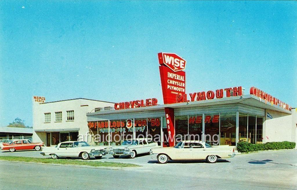 1958 Wise Chrysler Plymouth Dealership, Houston, Texas
