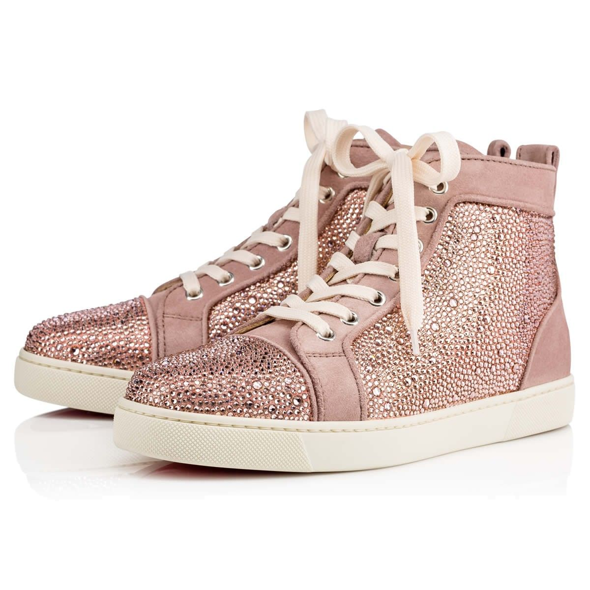 fe8208298375 Louis Women s Flat Version Rose Antique Suede - Women Shoes - Christian  Louboutin  3295.