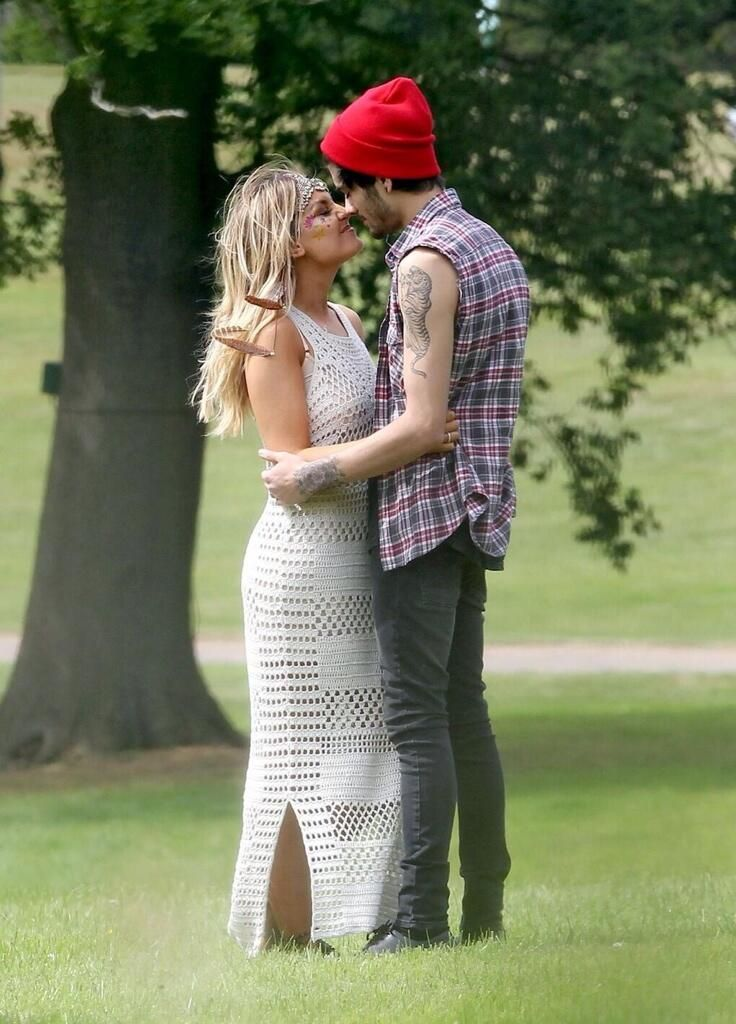 Zayn and Perrie at her birthday party - 9/7/14