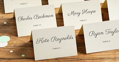 Browse Wedding Place Cards In A Variety Of Colors Our Printable Make It Easy To Add Guests Names And Table Numbers