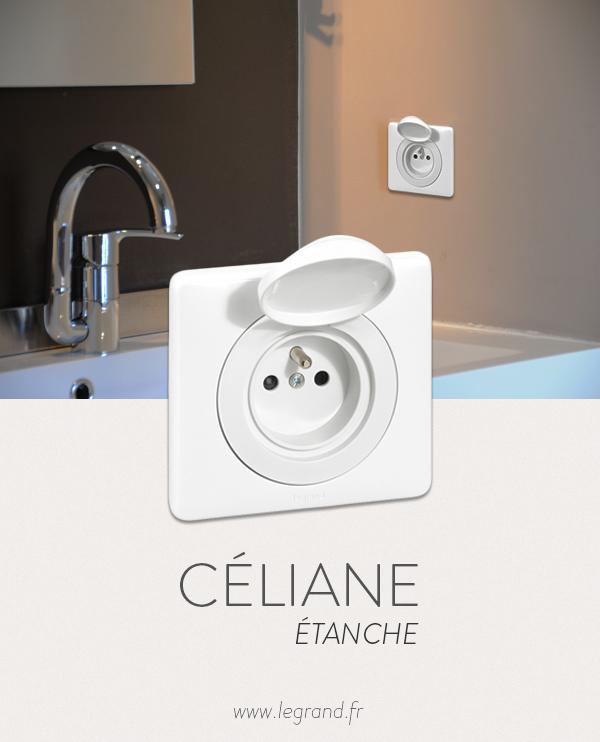 Une Prise De Courant Celiane Ip44 Pour Les Locaux Humide Celiane Prisedecourant Ip44 Celiane Interrupteurs Appareillage Electrique