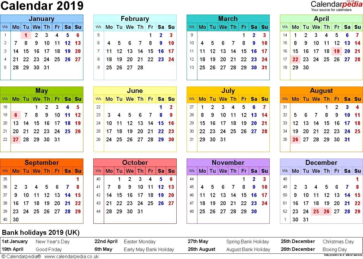 Lovely Calendar 2019 Printable imagens) A