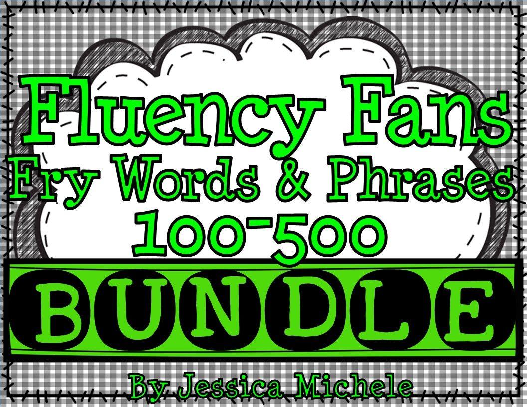 Fluency Fans Fry Words Amp Phrases 100 500 Bundle