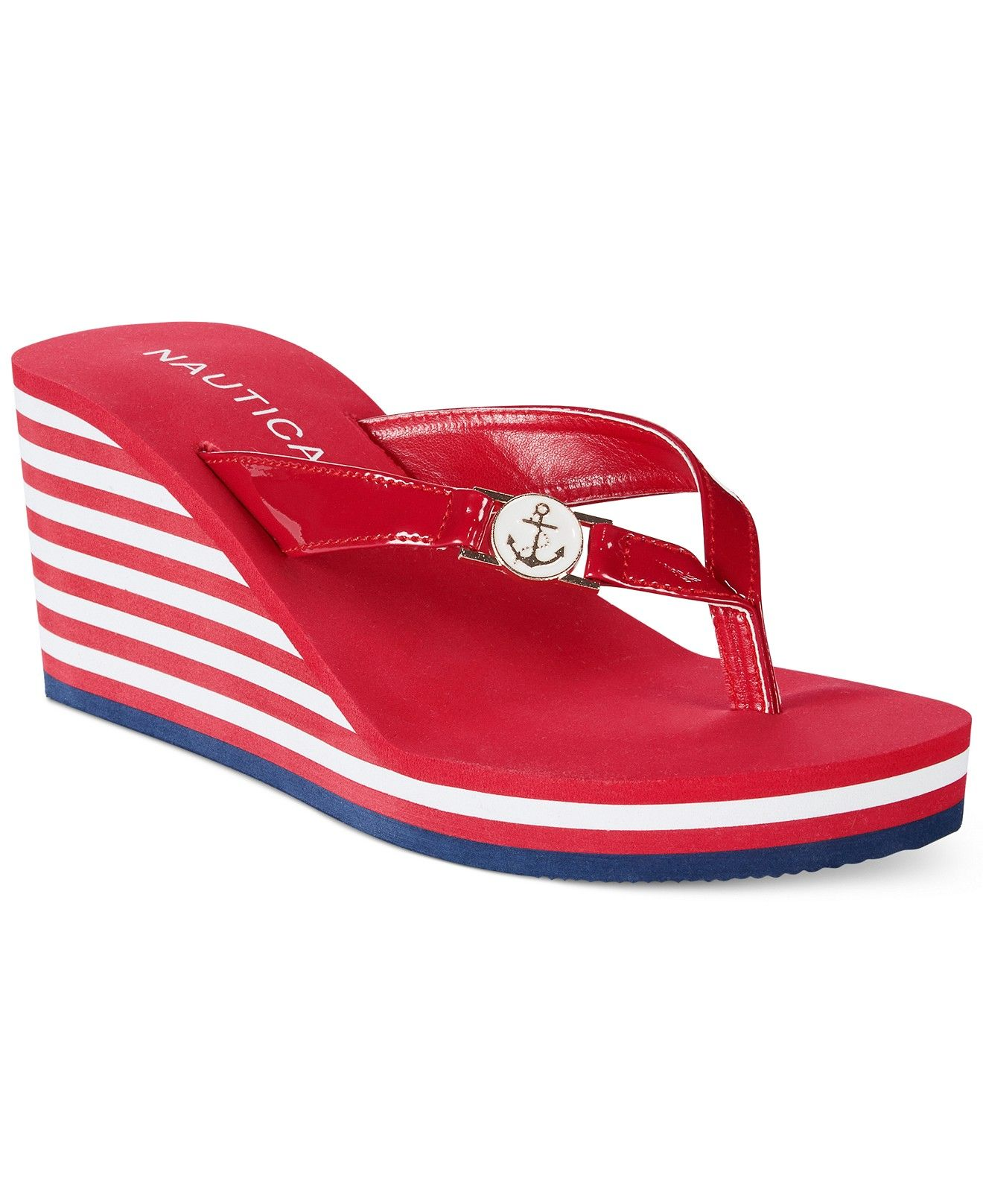 5b53e3e1567e Nautica Women s Landvale Eva Platform Wedge Flip Flops - All Women s Shoes  - Shoes - Macy s