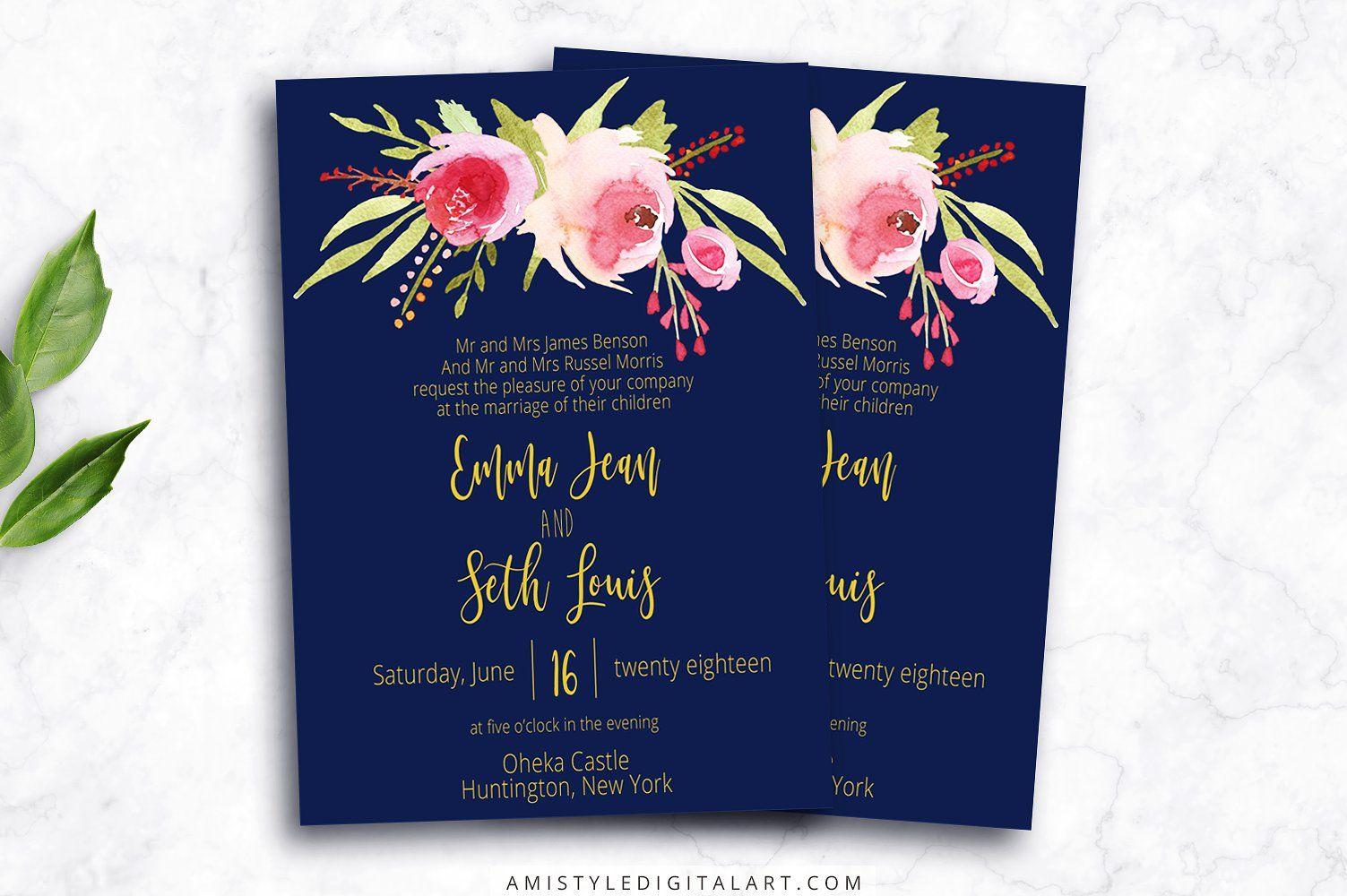 Wedding invitation template navy invitation templates wedding wedding invitation template navy stopboris Gallery