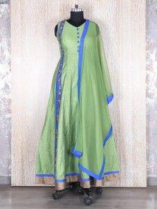 Green silk wonderful salwar suit