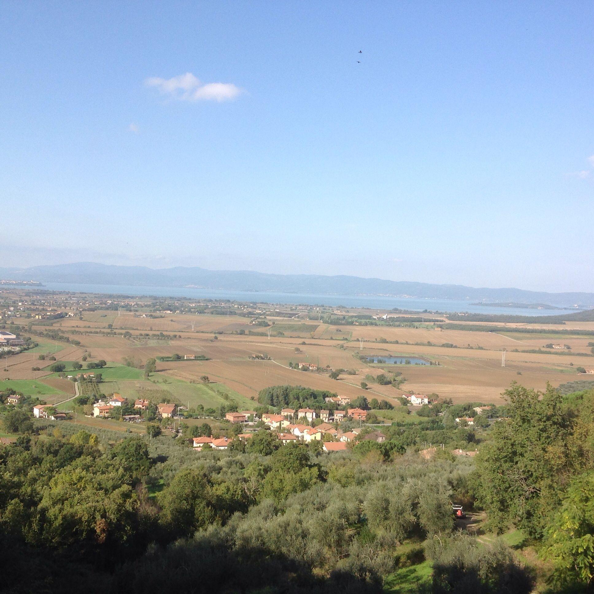 Näkymä Trasimeno-järvelle Panicalesta