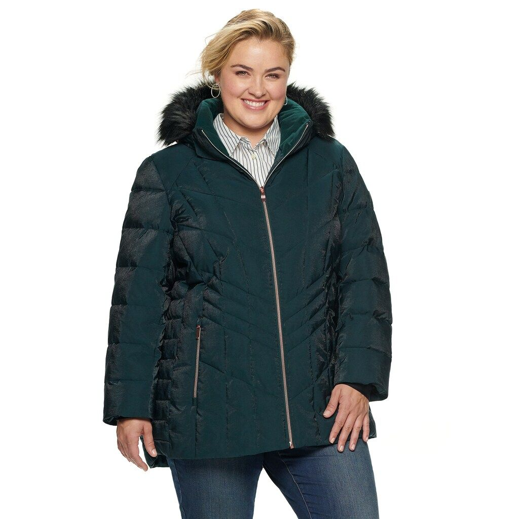 Plus Size Zeroxposur Shimmer Heavyweight Quilted Puffer